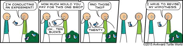 #145 bird hand bush